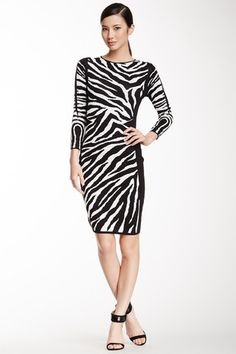 Cynthia Steffe Briella Zebra Jacquard Dress