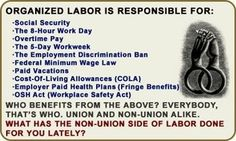 Organized Labor Unions! They Fight for Your Rights...Not the Greedy 1% !