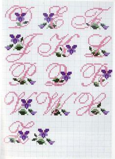 Alfabeto con viole