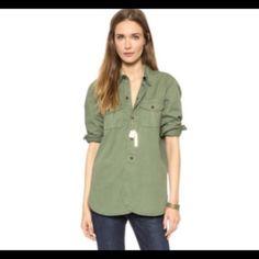 Madewell Work Shirt Button down. Brown buttons. Worn once. Madewell Tops Button Down Shirts
