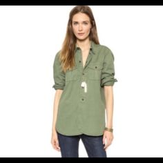 Madewell Work Shirt Button down. Brown buttons. Worn once. Madewell Tops Button Down Shirts