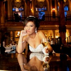 Cocktail hour at the Jefferson Hotel in Richmond VA. Yuna lee, reporter WHIO TV in Dayton