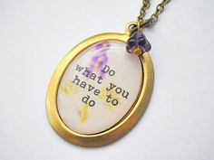 """Hannah McKay: """"Do what you have to do"""" w/ purple aconite flower pendant necklace USD14 FREE SHIPPING"""