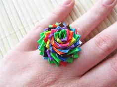 to Make an awesome flower ring out of Duct Tape How to Make an Awesome Ring Out of Duct TapeHow to Make an Awesome Ring Out of Duct Tape Duct Tape Rose, Duct Tape Flowers, Diy Flowers, Flower Crafts, Duct Tape Projects, Duck Tape Crafts, Arts And Crafts Projects, Fun Crafts, Crafts For Kids