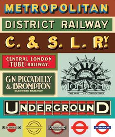 Happy birthday to the tube. Keeping London Moving Since 1863 Old London Underground logos print