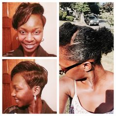 From March 2014 when I use to rock the short tampered cut, to now. Wow what a change!