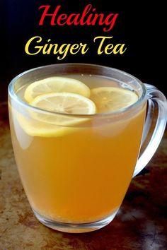 Healing Ginger Tea - Sweet Green Tea loaded with ginger, cinnamon, lemon, and honey!