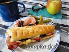 kanapka zjedzona: Szynka ze śliwkami