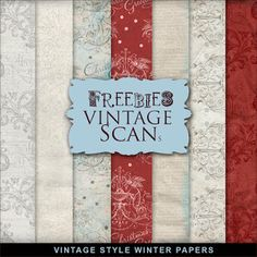 FREE Freebies Winter Paper in Vintage Style BY Far Far Hill