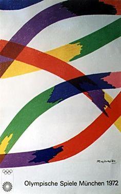 Munich Olympic Games Poster - Piero Dorazio