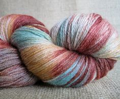 Rainbow Brite - Hand Dyed Merino Wool and Silk - Fingering Weight Sock Yarn ~ GnomeAcres