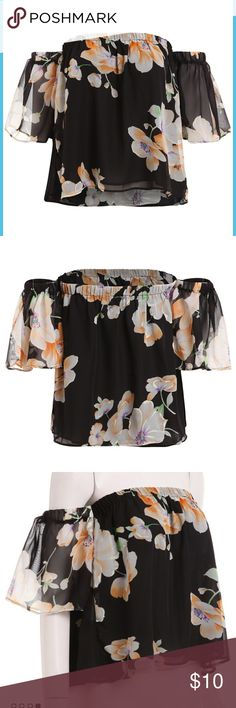 Floral off the shoulder blouse Very cute Tops Blouses