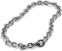 David Yurman Chain Necklace with Diamonds on shopstyle.com