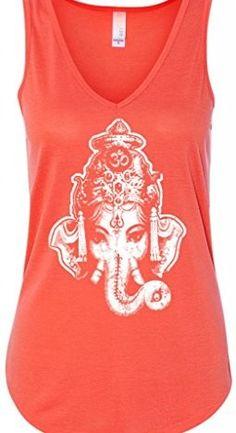 e7ca993e56 Yoga Clothing For You Ladies Ganesha Head Flowy Tank Top