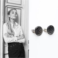 I want to give women the option of adorning their shirts with ornate, elegant cufflinks designed especially for them. Why? Because they're beautiful and look magnificent on my shirts.... #beautiful#white#monochrome#womeninbusiness#styleinspiration#blackwhite #fashion#accesories#womensfashion#canadianfashion#exclusivity#shirt#classy#silver#jewellery#elegant#blouse#cufflinks