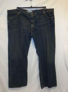 Levis 527 Denim Blue Jean 54x32 Big & Tall Dark Wash Low Boot Cut #levis #BootCut