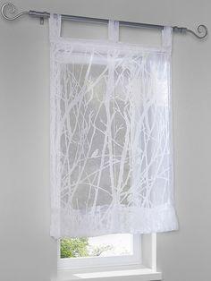 Store transparent, motif dévoré branches moderne...