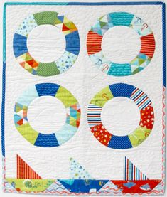 Make this Sailing Quilt with Nancy Zieman and Carol Porter using Carefree Curves templates, facings, piecing and machine applique. The quilt is great for a baby boy. Easy Quilts, Small Quilts, Mini Quilts, Children's Quilts, Quilting Tutorials, Quilting Projects, Sewing Projects, Quilting Ideas, Sewing Crafts