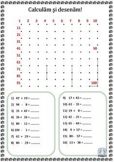 Calculăm și desenăm! Fișe de lucru cu operații matematice și desen Preschool Worksheets, Preschool Activities, Kids Learning, Bullet Journal, Math, Puzzle, Diana, Nature, Calculus