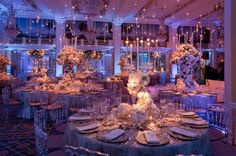 Candlelit Reception, Hanging candles, Flower Candelabra, The Willard Hotel by SoCo Events in DC