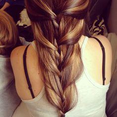 My cute little hairstyle. #creative #hairstyle #braid