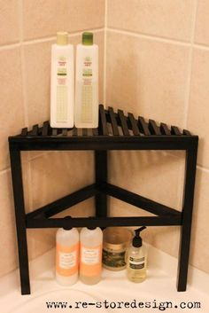 2×4 Scrap Wood ~ Shower Organizer | Do It Yourself Home Projects from Ana White