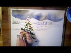 A Christmas Tree - watercolor painting process www.SeedingAbundance.com http://www.marjanb.myShaklee.com