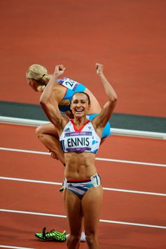 London 2012 - Jessica Ennis is overjoyed after winning gold in the heptathlon with a stunning victory in the final event, the 800m.