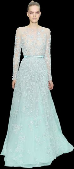 Elie Saab ss 2012 so much love for this one! my fav color of blue, but love the style as well