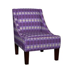Venda Sloped Arm Chair featuring KRLGFabricPattern_85C3large by karenspix | Roostery Home Decor