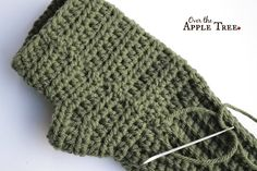 Celtic Weave Fingerless Gloves, Pattern by Over The Apple Tree