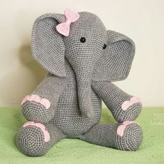 Fabulous great job...!!   Credit : @courtneylittlehandmade -  Baby Elephant  Custom order for a friend. Thinking up a few holiday amigurumi to make next! . .. . .  For amazing elephant photos and videos follow @elephant.gifts  #elephant #elephants #elephantlove