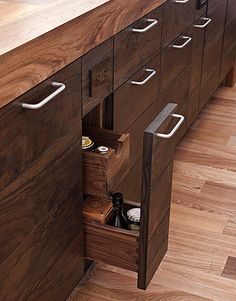 A Dark And Handsome Kitchen Base Cabinetswalnut