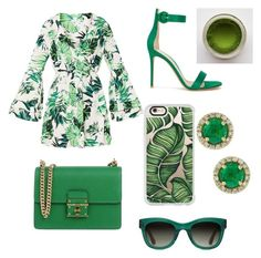 """green"" by fluffy-bunny4 ❤ liked on Polyvore featuring Gianvito Rossi, Dolce&Gabbana, Casetify, TOMS and Effy Jewelry"