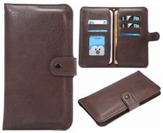 Wallet Case Hynice Usually Wallet Purse For Women Men Girls With Card Holder Card Slots Window Photo Slot Fit IPhone 6/6S Plus SamsungS7edge S6edge All Under 6inch Cellphone(A6-brown). Made of premium Soft PU leather,which is durable and nice.Suitable for all under 6 inch cellphone. It has two separated pouches,one is for cell phone and one is pocket moeny and keys,Super convenient and cute bag for carrying little stuffs,best for walking,travel and every use. . It with 5 card slots...