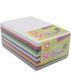Fibre Craft 5-1/2''x8-1/2'' Foam Sheets-50PK/Rainbow