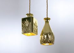 Decanter light gold-Designed by Lee Broom available through Property Furniture