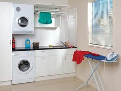 Laundry idea- change existing tub to sink with bench above washing machine
