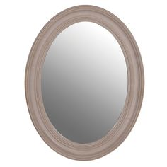 Ash Grey Oval Mirror by The French Bedroom Company
