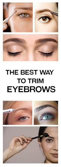 The Best Way to Trim Eyebrows