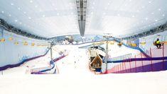 Au parc HARBIN WANDA CITY en Chine, on trouve  La plus grande piste de ski couverte du monde .