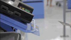 A credit card chip machine is seen inside a Walmart.