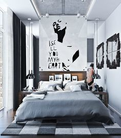 Modern Urban Bedroom Decor In Grey And White - DigsDigs modern bedroom decor - Bedroom Decoration