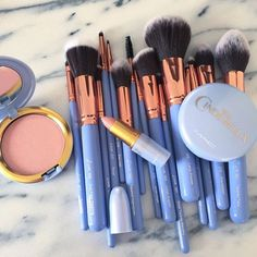 Matte Shimmer Eyeshadow Palette Long-lasting Waterproof Pigmented Eye shadow with and Double Ended Brush Makeup Set, 2 Eye Make-up Pallets - Cute Makeup Guide Makeup Goals, Makeup Inspo, Makeup Tips, Makeup Ideas, Cute Makeup, Pretty Makeup, Cheap Makeup, Awesome Makeup, Elf Makeup