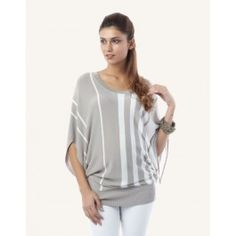 Striped Knit Batwing Jumper $93 by Seraphine