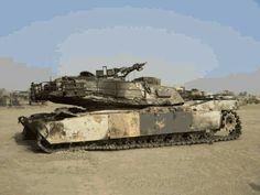 destroyed M1 Аbrams  in  Iraq