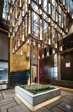 Oriental spirit - the Golden Xixi Fenghua sales offices - the United States interior design Chinese network Asian Interior, American Interior, Luxury Interior, Interior Design, Commercial Design, Commercial Interiors, Sand Table, Sales Center, Sales Office