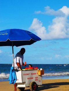 Ice Cream Stand on Isla Verde Beach, Puerto Rico  via http://travelshus.com #puertorico #beach