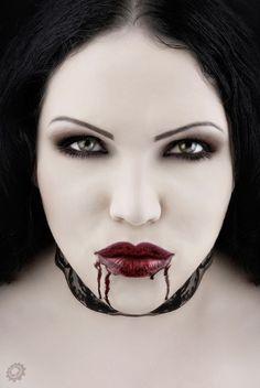 Vampire makeup for halloween...