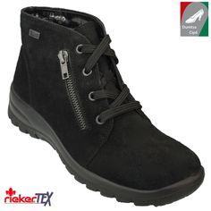 Rieker vízálló női bokacipő L7131-00 fekete